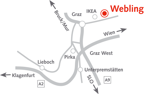 Musterhauspark Webling Anfahrt
