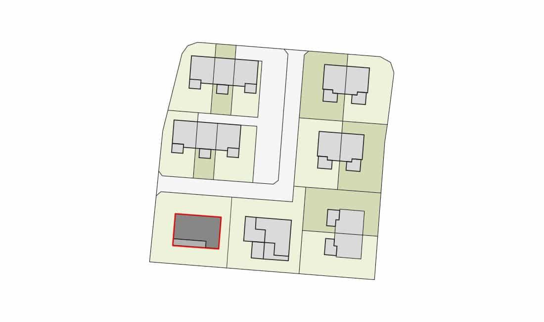 Lageplan Detail Pernegg HausG Bungalow